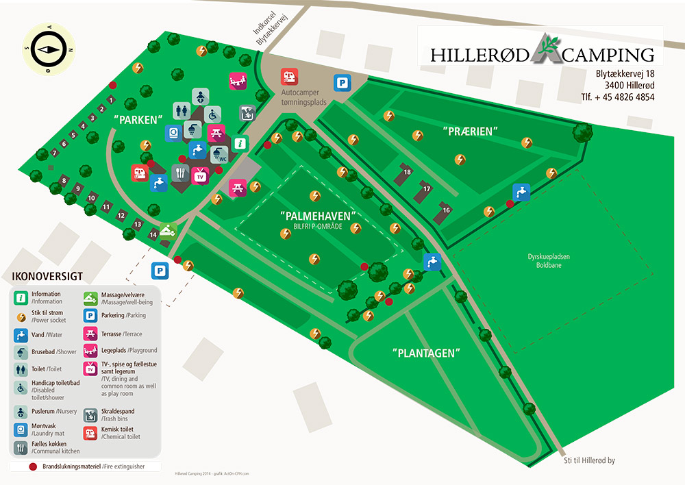 Hillerd Camping Map of Camping Site